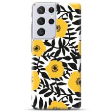 "Samsung Galaxy S21 Ultra TPU dėklas unikaliu dizainu 1.0 mm ""u-case Airskin Flowers 2 design"""