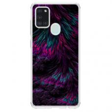 """Samsung Galaxy a21s TPU dėklas unikaliu dizainu 1.0 mm """"u-case Airskin Feather design"""""""