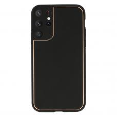 Samsung galaxy s21 ultra dėklas TEL Protect Luxury juodas