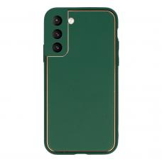 Akcija! Samsung galaxy s21 dėklas TEL Protect Luxury žalias