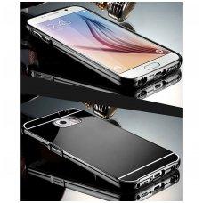 Samsung galaxy S6 dėklas Aliumininis Bumperis Juodas