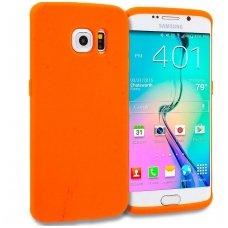 Samsung galaxy S6 Edge dėklas MERC Silikoninis 0,3mm oranžinis