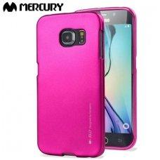 Samsung galaxy S6 Edge dėklas MERC Silikoninis 0,3mm rožinis