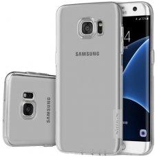 Samsung galaxy S6 Edge dėklas Nillkin Nature TPU 0,6mm pilkas permatomas
