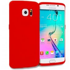 Samsung galaxy S6 Edge dėklas Silikoninis CANDY 0,3mm raudonas