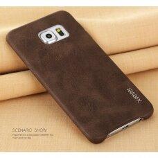 Akcija! Samsung galaxy S6 EDGE dėklas X-LEVEL VINTAGE rudas