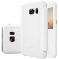 Samsung Galaxy S7 atverčiamas dėklas Nillkin Sparkle PU ODA baltas
