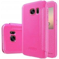 Samsung Galaxy S7 atverčiamas dėklas Nillkin Sparkle PU ODA rožinis