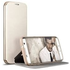 Samsung Galaxy S7 atverčiamas dėklas X-level FIB PU ODA aukso spalvos