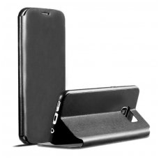 Samsung Galaxy S7  atverčiamas dėklas X-level FIB PU ODA juodas