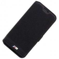 Samsung galaxy s7 atverčimas originalus BMW dėklas Book case M juodas eko oda