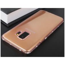 samsung galaxy s7 dėklas 3d side diamond silikonas rožinis
