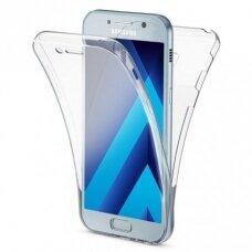 AKCIJA! Samsung galaxy a5 2016 dėklas dvipsusis 360 TPU 0,3mm skaidrus