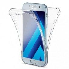 AKCIJA! Samsung galaxy a5 2017 dėklas dvipsusis 360 TPU 0,3mm skaidrus