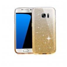 samsung galaxy s7 dėklas glitter silikonas sidabrinis auksinis