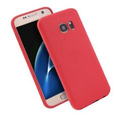 Samsung galaxy S7 dėklas Silikoninis CANDY 0,3mm raudonas