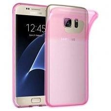 samsung galaxy s7 dėklas Silikoninis Ultra Slim 0,3mm Permatomas rožinis