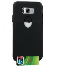 Samsung Galaxy s7 dėklas Tops Guard Card  Silikoninis Juodas