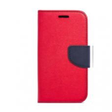 Samsung Galaxy s7 dėklas mercury goospery fancy diary medžiaginis pluoštas+tpu raudonas-mėlynas