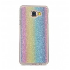 samsung galaxy s7 edge dėklas glitter silikonas rainbow