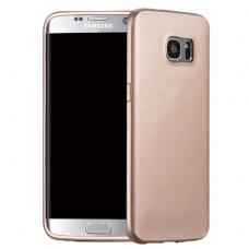 Samsung galaxy s7 edge dėklas X-LEVEL METALIC KNIGHT 0,88mm plastikas auksinis