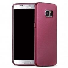 Samsung galaxy s7 edge dėklas X-LEVEL METALIC KNIGHT 0,88mm plastikas bordo