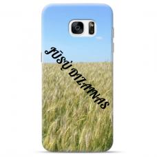 Samsung Galaxy S7 TPU dėklas nugarėlė su jūsų dizainu. Dėklas gaminamas su jūsų pateikta nuotrauka