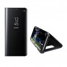 Akcija ! Samsung Galaxy S8 atverčiamas dėklas Clear View veidrodiniu-permatomu dangteliu juodas