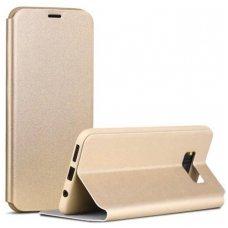 Samsung Galaxy S8 atverčiamas dėklas X-level FIB PU ODA aukso spalvos