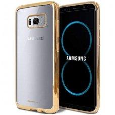 Samsung galaxy s8 dėklas MERCURY JELLY RING 2 silikonas AUKSO SPALVOS KRAŠTAIS