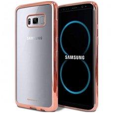Samsung galaxy S8 dėklas MERCURY JELLY RING 2 silikonas ROŽINIAIS KRAŠTAIS