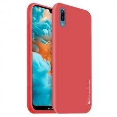 AKCIJA! Huawei Y6 2019 dėklas MERCURY JELLY SOFT silikoninis raudonas