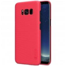 Samsung galaxy S8 dėklas nillkin Frosted PC plastikas raudonas