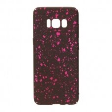 Akcija! Samsung galaxy s8 dėklas nugarėlė splash tpu juodas-rožinis