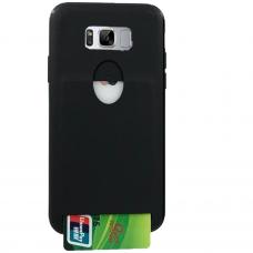 Samsung Galaxy s8 dėklas Tops Guard Card  Silikoninis Juodas