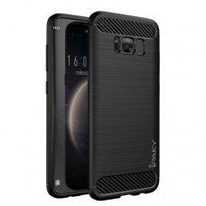 AKCIJA! Samsung galaxy S8 plus  dėklas iPaky Slim Carbon TPU juodas