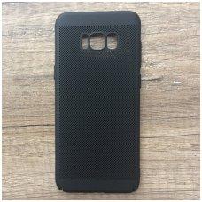 akcija! Samsung Galaxy S8 plus DĖKLAS juodas KIETO PLASTIKO ATSPARUS SMŪGIAMS