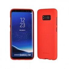 Akcija! Samsung galaxy S8 plus dėklas MERCURY JELLY SOFT silikoninis raudonas
