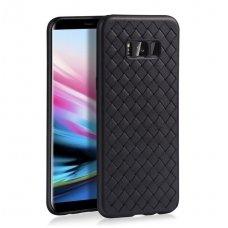 """Samsung galaxy s8 plus dėklas """"N TOPS KNIT"""" silikonas juodas"""