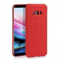 """Samsung galaxy s8 plus dėklas """"N TOPS KNIT"""" silikonas raudonas"""