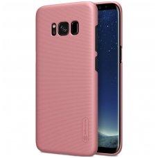 Samsung galaxy S8 Plus dėklas nillkin Frosted PC plastikas rožinis