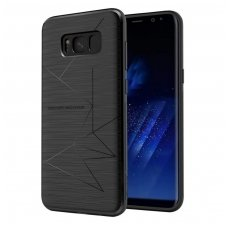 Samsung galaxy S8 Plus dėklas nillkin Magic magnetinis juodas pritaikytas belaidžiam krovimui