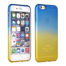 Samsung Galaxy S8 plus dėklas OMBRE silikoninis mėlynas-auksinis