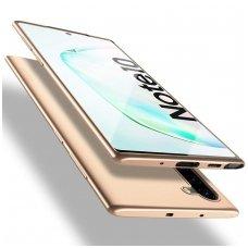 Samsung galaxy Note 10 dėklas X - LEVEL GUARDIAN silikonas auksinis