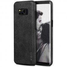 Akcija! Samsung galaxy S8 Plus dėklas X-LEVEL VINTAGE eko oda juodas
