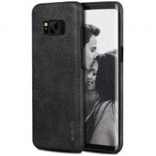 Samsung galaxy S8 Plus dėklas X-LEVEL VINTAGE eko oda juodas