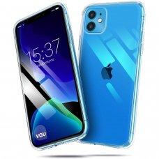Akcija! iphone 11 pro MERCURY JELLY Clear CASE Silikoninis permatomas