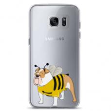 "Samsung Galaxy S6 edge TPU dėklas unikaliu dizainu 1.0 mm ""u-case Airskin Doggo 1 design"""