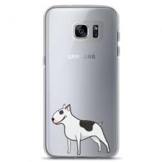"Samsung Galaxy S6 edge TPU dėklas unikaliu dizainu 1.0 mm ""u-case Airskin Doggo 3 design"""