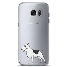 "Samsung Galaxy S6 TPU dėklas unikaliu dizainu 1.0 mm ""u-case Airskin Doggo 3 design"""